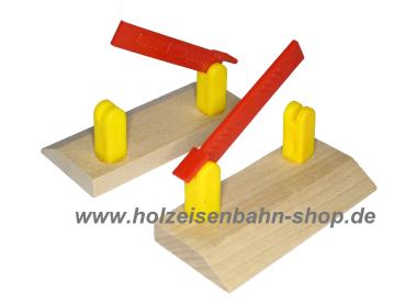 bahn bergang mit schranke f r holzeisenbahn kompatibel zu brio eichhorn thomas and friends. Black Bedroom Furniture Sets. Home Design Ideas