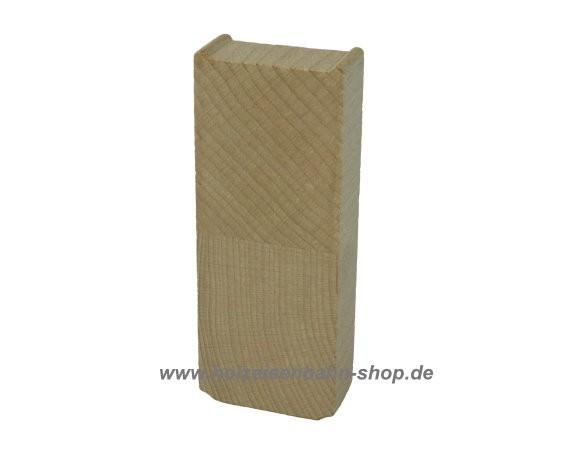 Holzeisenbahn Pfeiler, Säulenträger für Holzeisenbahnschienen