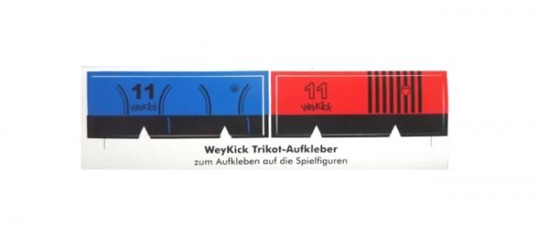 weykick Tischfußball: Trikot-Aufkleber blau / rot