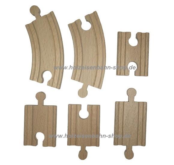 Holzeisenbahn 1/4 Ausgleichsschienen mix, kurze Kleinschienen Adapterschienen Zwischenstücke, Verbindungsschienen
