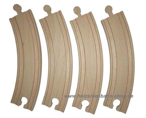 Holzeisenbahnschienenkurven, 1/1 gebogene Gleise, große Kurvengleise für die gängigen Holzeisenbahnen