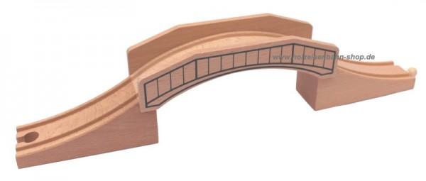 no name Holzeisenbahn Massivholz-Brücke ohne Plastik passend zu zB Brio, Heros, Thomas, Bino, TCM, Ikea uvm., Unterführung